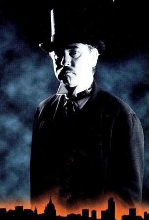 Top hatted image of Jack the Ripper.