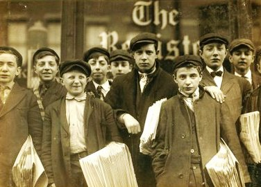 Newspaper Boys From 1888.