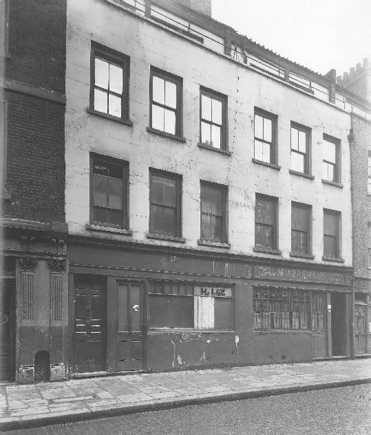 Front view of 29 Hanbury Street where Annie Chapman was murdered.