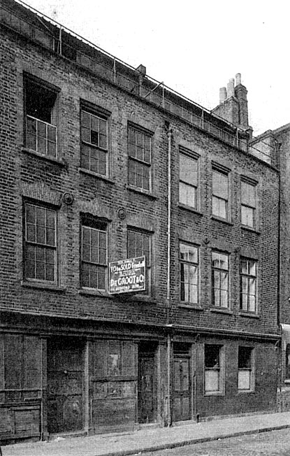 A photo of 29 Hanbury Street in the 1950's.