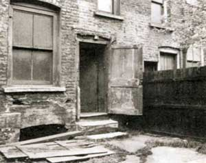 The backyard of number 29 Hanbury Street.
