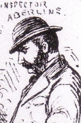 A sketch showing ripper hunter Inspector Abberline