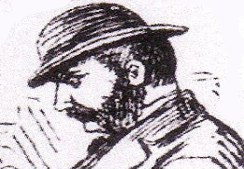 A sketch of Inpsector Frederick Abberline.