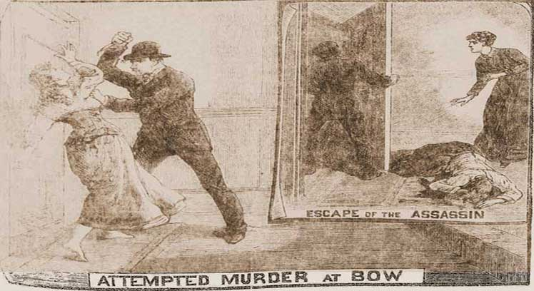 An image from the newspapers showing the attack on Ada Wilson.