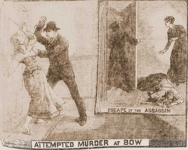 An illustration showing the attack on Ada Wilson.