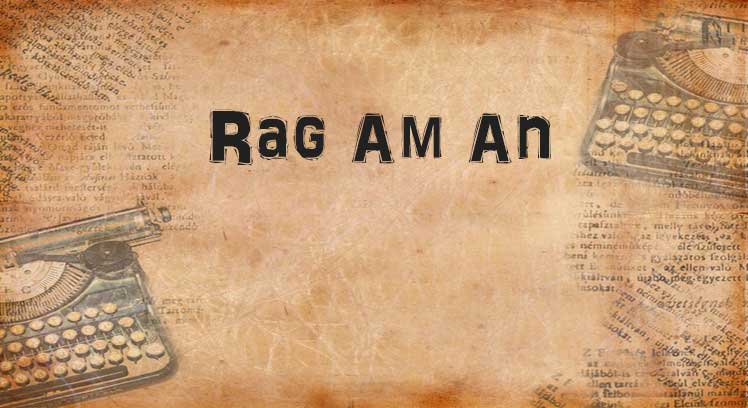 Rag An Am, an anagram of the word anagram on a parchment.