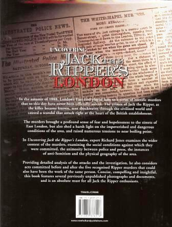 The back cover of the Jack the Ripper Book.