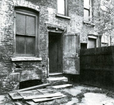 The backyard of 29 Hanbury Street where Annie Chapman was murdered.