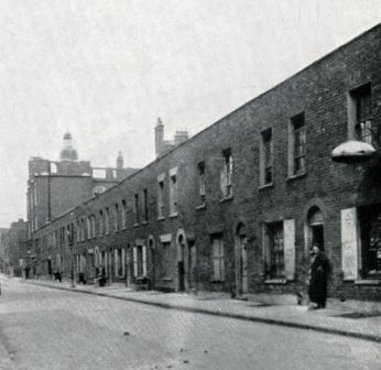 A 1920's view of the Jack the Ripper Murder location in Berner Street
