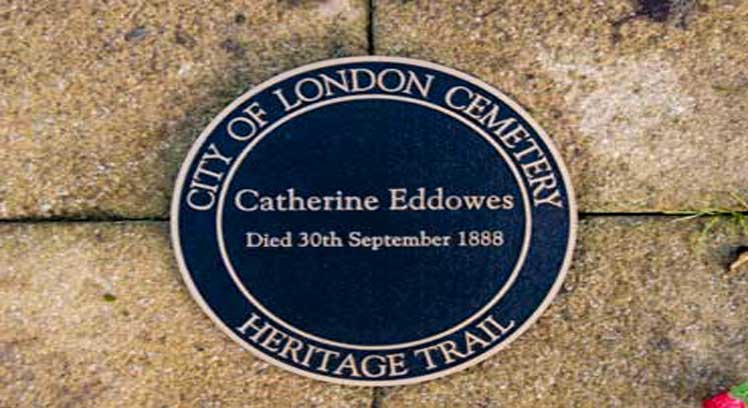 The memorial to Jack the Ripper victim Catherine Eddowes.