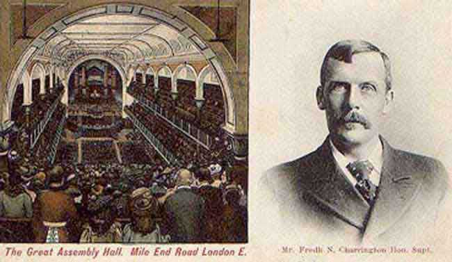 The Great Assembly Hall And Frederick Charrington.
