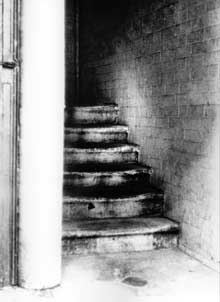The stairway where the clue was found.