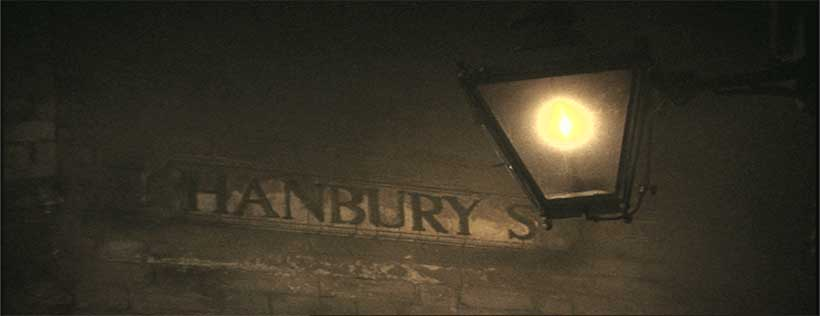 The sign for Hanbury Street