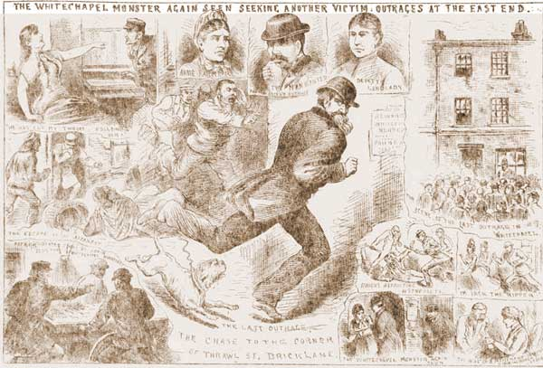 Illustrations depicting the attack on Annie Farmer.