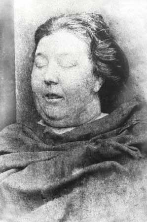 The mortuary photograph showing Martha Tabram.