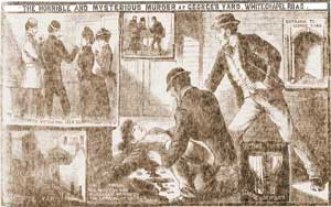 Illustrations showing the murder of Martha Tabram.