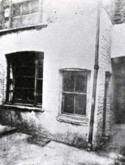 An exterior view of the window of Mary kelly's room.