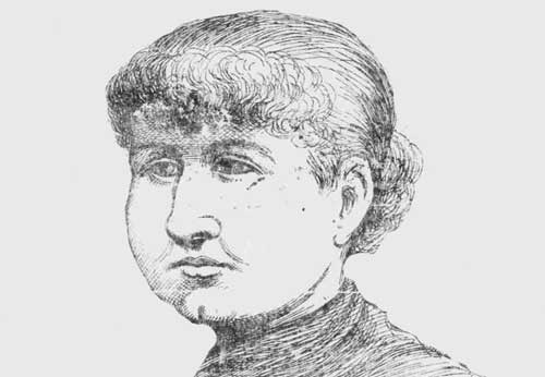 A portrait of Mary Kelly.
