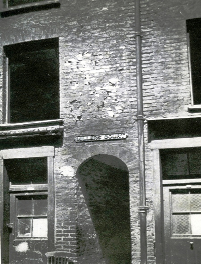 A photo of the entrance into Miller's Court.