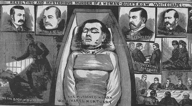 The Illustrated Police News coverage of the Mary Nichols murder and inquest.