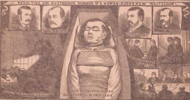 The Illustrated Police News article on the murder of Mary Nichols.