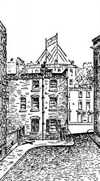 A contemporary sketch showing ths site of Catherine Eddowes murder in 1888.