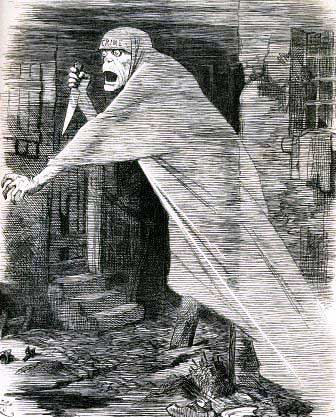 The Punch magazine image showing a shrouded phantom as the Nemesis of Neglect.