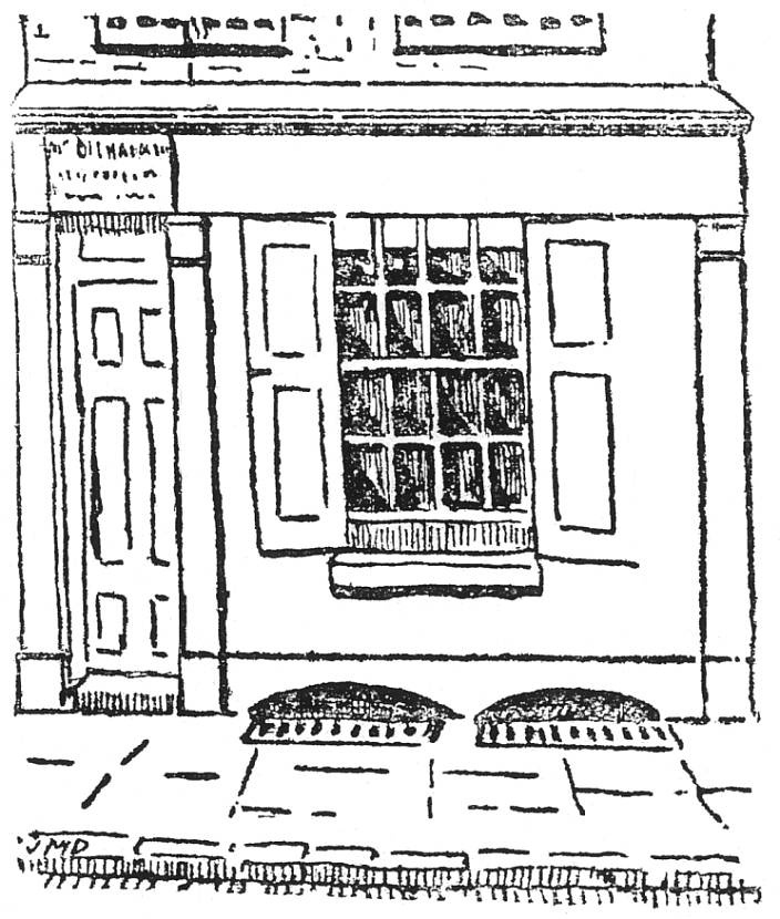 Contemproary newspaper sketch of 29 Hanbury Street