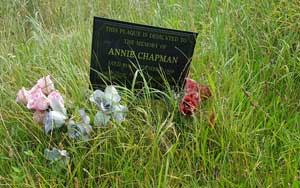 The grave of Annie Chapman.