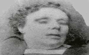 The mortuary photo of Annie Chapman.
