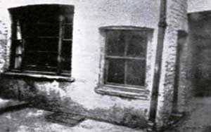 An external view of 13, Miller's Court, scene of the murder of Mary Kelly.