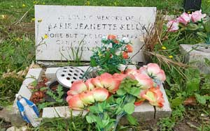 The grave of Mary Kelly.