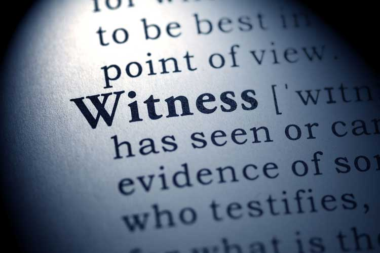 A definition of witness.