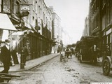 Hanbury Street looking east in the early 20th century
