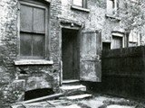 The backyard of 29 Hanbury Street site of the murder of Annie Chapman