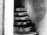 "The staircase where the message ""The Juwes are the men that will not be blamed for nothing"" was found"