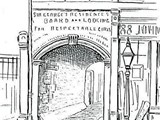 The entrance to George Yard, now Gunthorpe Street, in 1888