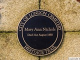 Mary Nichols memorial - City of London Cemetery