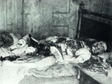 Mary Kelly's body at the scene of her murder